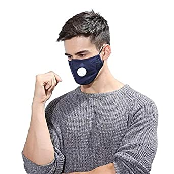 Washable Pcs Dust Mask 2 Cotton Respirator Reusable Jern Pollution Anti blue