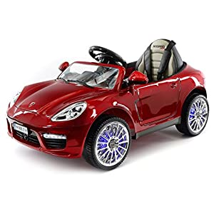 2018-Porsche-Boxster-Style-12V-Ride-On-Car-Battery-Powered-Wheels-W-Dining-Table-Leather-Seat-LED-Lights