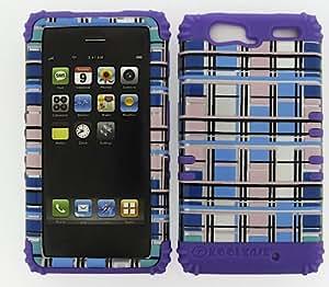 SHOCKPROOF HYBRID CELL PHONE COVER PROTECTOR FACEPLATE HARD CASE AND LIGHT PURPLE SKIN WITH STYLUS PEN. KOOL KASE ROCKER FOR MOTOROLA DROID RAZR MAXX XT913 BLOCKS LP-TP1454-S