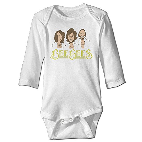 Price comparison product image Baboy Bee Geese For 6-24 Months Boys&Girls Romper Jumpsuit 12 Months White
