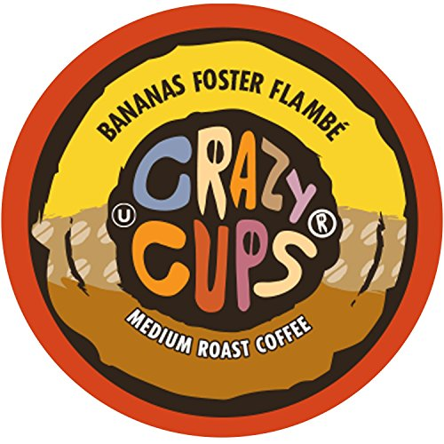 Crazy Cups Flavored Coffee, for the Keurig K Cups Coffee 2.0 Brewers, Bananas Foster Flambe, 22 Count