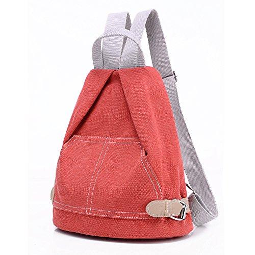 Mochila de lona, escolar, mochila impermeable, bolsas de viaje Orange