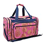 Gold Pineapple Pink NGIL Canvas Carry on 20'' Duffle Bag
