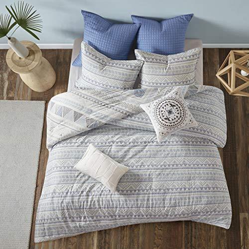 Urban Habitat Rochelle Teen Boys Duvet Cover Full/Queen Size - Blue , Geometric - 7 Piece Teen Boy Bedding - 100% Cotton Lightweight Duvet Cover Set
