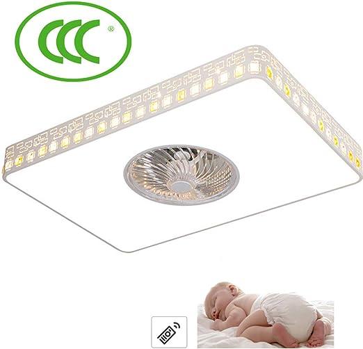 Ventilador De Techo LED Lámpara Rectangular 72W Regulable ...