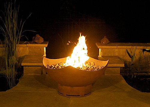 Fire Pit Art Manta Ray Fire Pit, Electronic Ignition, Natural Gas (Manta Ray Fire Pit)