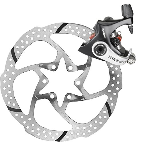 - TRP SPYRE Flat Mount Road Alloy Mechancial Disc Brake Caliper Rotor Rear 140mm