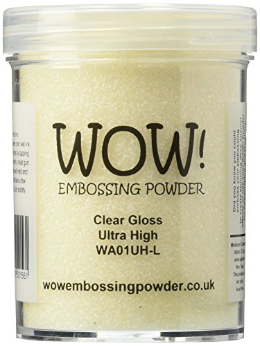 Wow Embossing Powder Large Jar 160ml-Clear Gloss Ultra High (Ink A Dink A Bottle Of Ink)