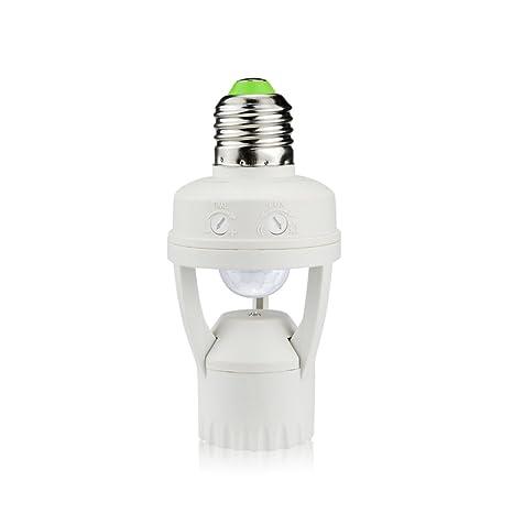 Base de luz de sensor de movimiento, transformador E27 a E27 Ac 220 V-