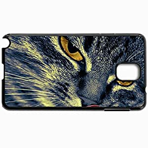 Fashion Unique Design Protective Cellphone Back Cover Case For Samsung GalaxyNote 3 Case Cat Language Eyes Close Up Black