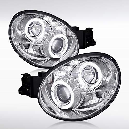 Autozensation For Subaru Impreza WRX Chrome Halo LED Projector Headlights