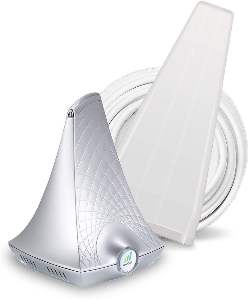SureCall Flare 3.0 Cell Phone Signal Booster for Home Yagi Antenna Configuration | Integrated indoor antenna for easier install | Covers up to 3000 sq ft | Boosts Voice, data for 4G, LTE, 3G (Renewed)