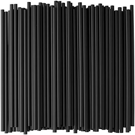 Crystalware Black Plastic Straws Inches