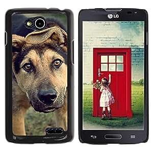 TopCaseStore / la caja del caucho duro de la cubierta de protección de la piel - Mutt Wolfhound Shorthair Mongrel Dog - LG OPTIMUS L90 / D415
