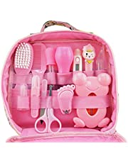 Set Infant Baby Grooming Tools Newborn Manicure Set Baby Healthcare Nail Clippers Hairbrush Tool Set(13PCS)