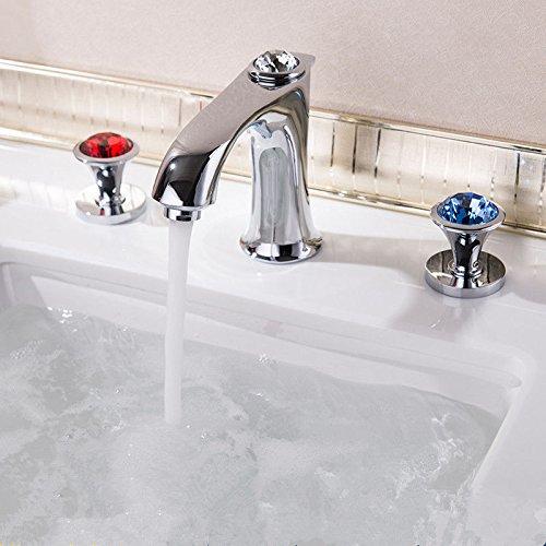 NewBorn Faucet Wasserhähne Warmes und und und Kaltes Wasser große Qualität der Spüle Leitungswasser Badezimmer voll Kupfer Kaltes Wasser Wasser Drei Loch Split dreiteiliges Becken Tippen 83dff9