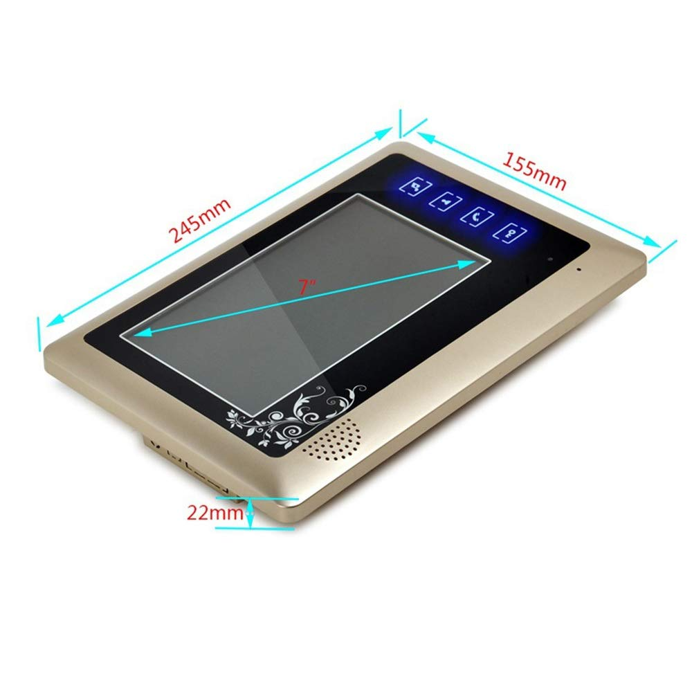 KRPENRIO 7 inch fashion new touch button video doorbell one pair two by KRPENRIO (Image #4)