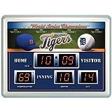 Detroit Tigers Clock - 14''x19'' Scoreboard