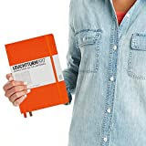 Leuchtturm1917 Medium A5 Squared Hardcover Notebook (Orange) - 249 Numbered Pages