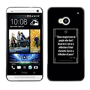 FlareStar Colour Printing Retro Quote Old Vintage Gentleman Black cáscara Funda Case Caso de plástico para HTC One M7