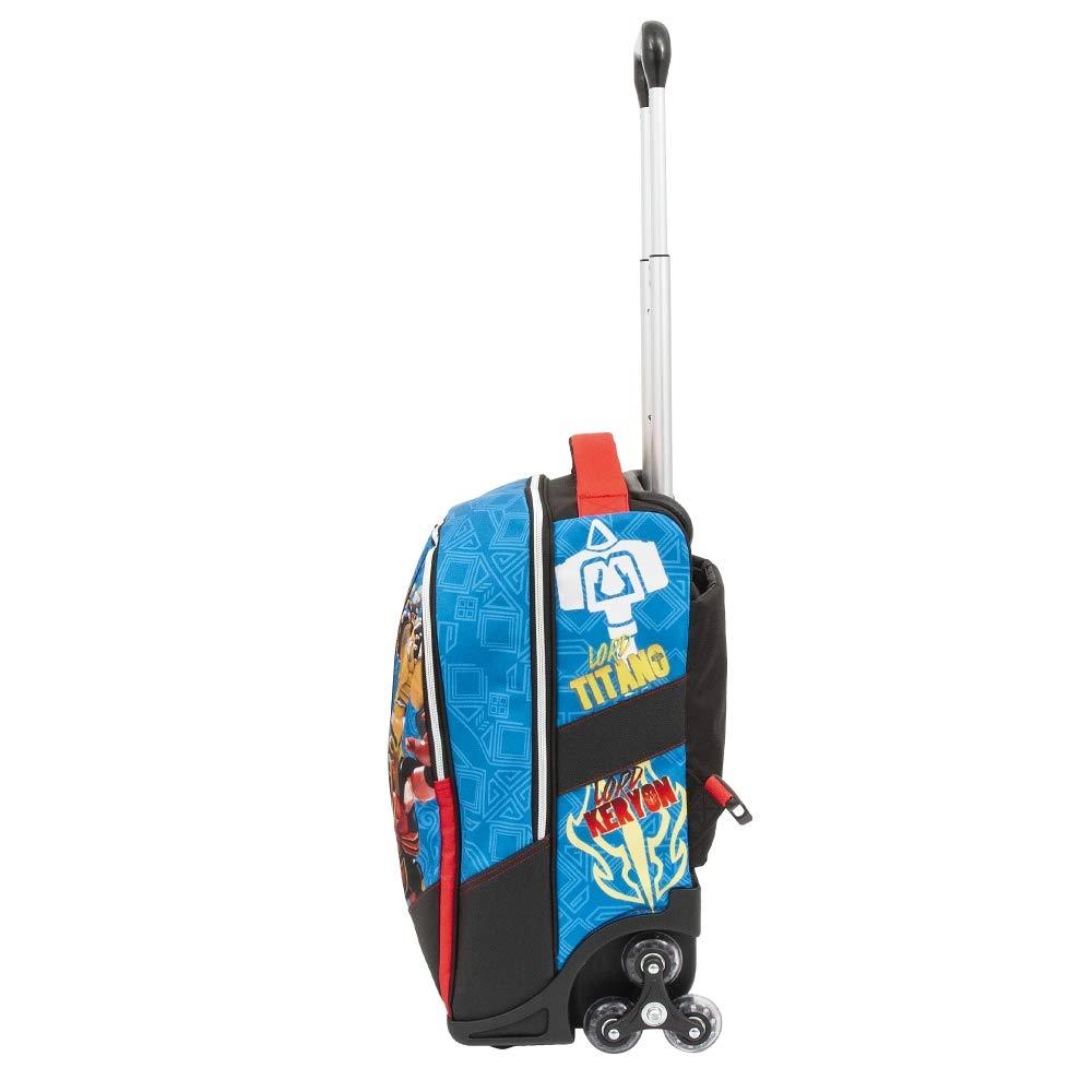 Giochi Preziosi Gormiti 19 Trolley Spinner Con 3 Ruote Sac /à Cordon 47 Centimeters Multicolore