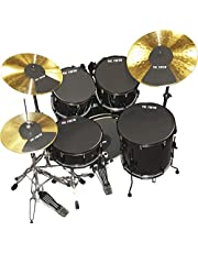 """Vic Firth MUTEPP5 20 Inch Fusion Drum and Cymbal Mute Pad Set: 10"""", 12"""", 14""""(x2), 20""""Drum Pads Plus Hi-hat and 2 x Cymbal Pads"""