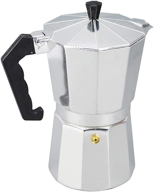 SJDY Cafetera Aluminio 1/3/6/9/12 Taza Latte Mocha Cafetera Estufa ...