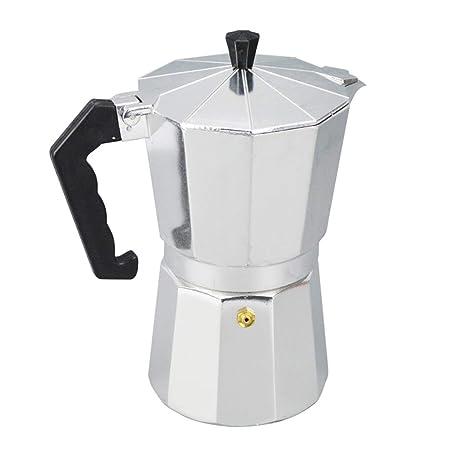 SJDY Cafetera Aluminio 1/3/6/9/12 Taza Latte Mocha Cafetera ...