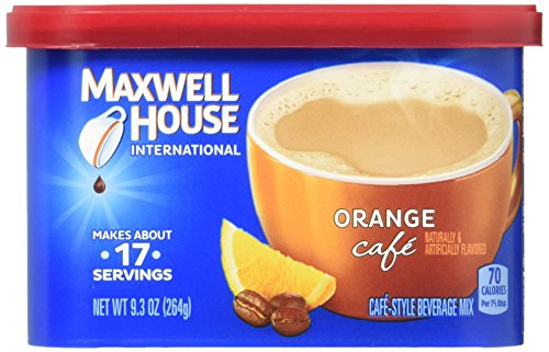 Maxwell House Orange Flavored Cafe Style Instant Beverage Mix, 9.3 Ounce -- 8 per case. from MAXWELL HOUSE