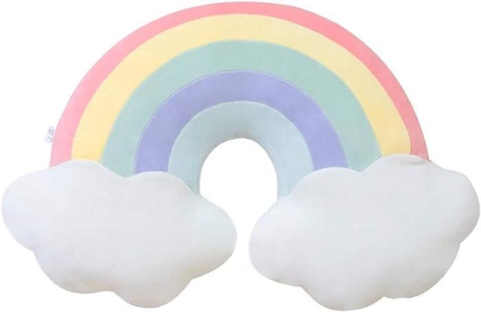 Skyseen Cloud Rainbow Shaped Pillow & Home Decorative Creative Cushion & Vivid Plush Stuffed Toy B