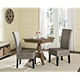 safavieh home collection arjun wicker dining chair antique grey