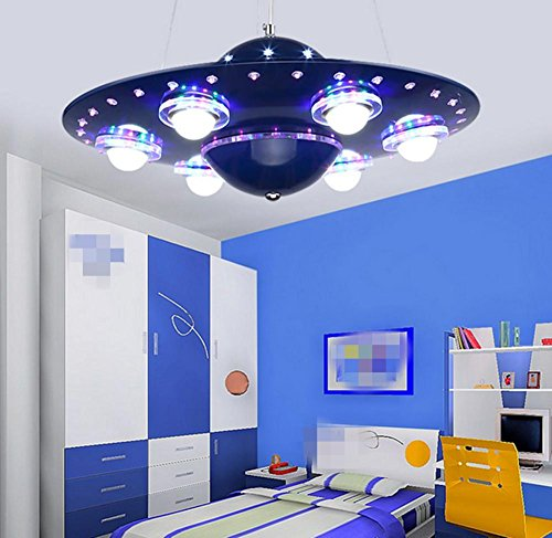 DMMSS Children's Room Chandelier Creative Flying Saucer Lights Led Children's Room Lights Boy Room Lighting Cartoon Personality Bedroom Lamps