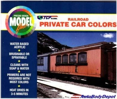Modelflex Paint Railroad Private Car Colors Set Badger