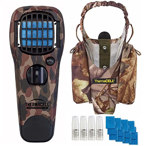 Earth Scent Value Pack - Thermacell Mosquito Repeller Device (Camo) with Holster and 48-Hour Earth Scent Refill Value Pack