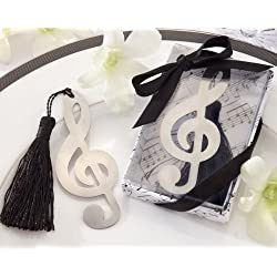 Timeless Duet Brushed-Metal Openwork Bookmark with Elegant Silk Tassel - Total 24 sets