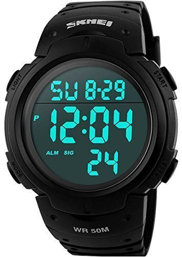 Men%27s+Digital+Sports+Watch+LED+Screen+Large+Face+Military+Watches+and+Waterproof+Casual+Luminous+Stopwatch+Alarm+Simple+Army+Watch+-+Black