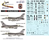 Afterburner Decals 1:48 OIF Black Widow for Hasegawa Decal Sheet #AD48-001