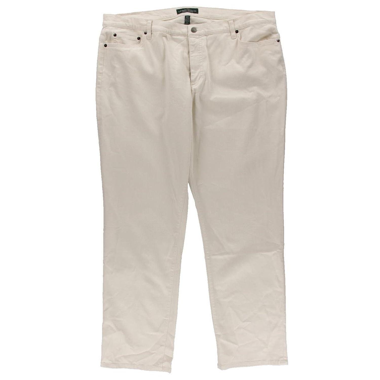 LRL Lauren Jeans Co. Womens Plus Denim Super Stretch Straight Leg Jeans