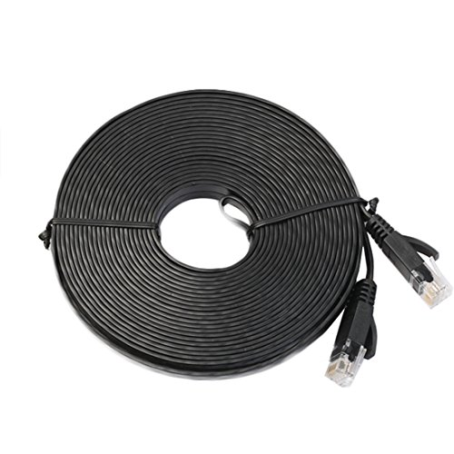0.5M Flat UTP Ethernet Network Cable (Black) - 3