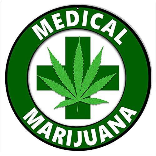 Medical Marijuana Cannabis Sign 14 Round