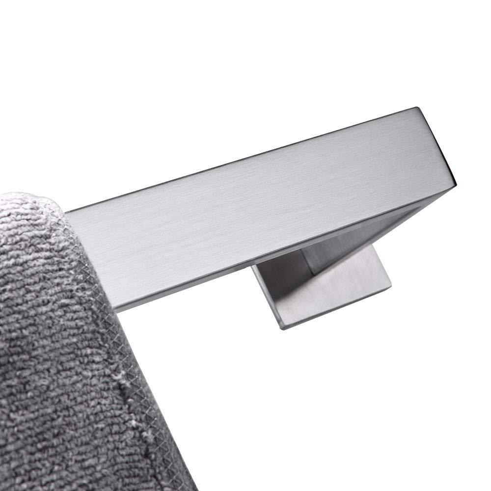 Toallero de barra de ba/ño 50cm Negro mate SUS304 de acero inoxidable 3M autoadhesivo pulido accesorios de ba/ño
