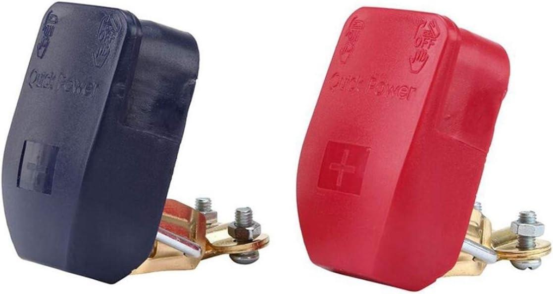 Bornes /à d/égagement rapide batterie pince 1 paire 12V Bornes /à d/égagement rapide batterie pinces connecteur pour voiture caravane bateau