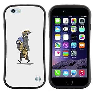 "Pulsar iFace Series Tpu silicona Carcasa Funda Case para Apple iPhone 6 / 6S (4.7 INCH) , Traje Gris Calvo Profesor Escuela de Niños"""