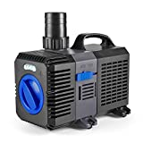 Flexzion Pond Pump Submersible Adjustable Frequency Inline Aquarium Fountain Waterfall Koi Fish Salt