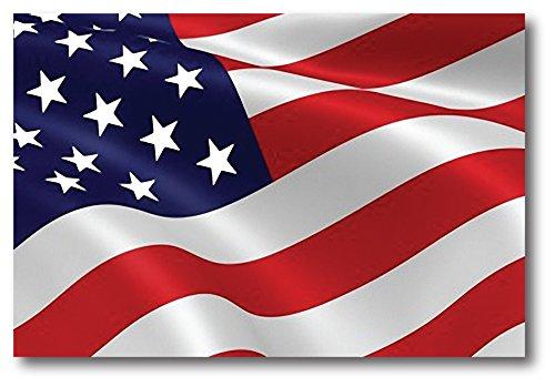 Waving American Flag Car Magnet Decal - 4 x 6 Heavy Duty for Car Truck SUV Decal 4 Car Truck