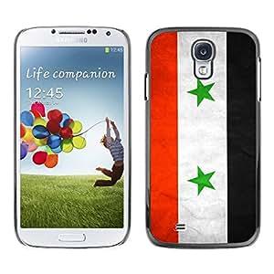 Caucho caso de Shell duro de la cubierta de accesorios de protección BY RAYDREAMMM - Samsung Galaxy S4 I9500 - Syria Grunge Flag
