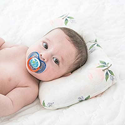 Head Shaping Baby Pillow For Newborn/Infants Made With Soft Organic Cotton, Protects from Flat Head Syndrome (Plagiocephaly), Provides Neck Support