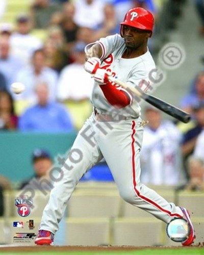 Jimmy Rollins 2008 Game 5 NLCS Home Run - 8x10 Inches - Art Print Poster Nlcs Home Game