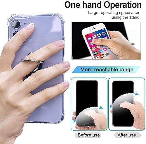 Lot de 2 Rotation /à 360 Degr/és Compatible avec iPhones XS Max//XR//X//8//7//6s//6 Plus Samsung Galaxy S10//S9//S8 Weilokes Anneau Support T/él/éphone en M/étal