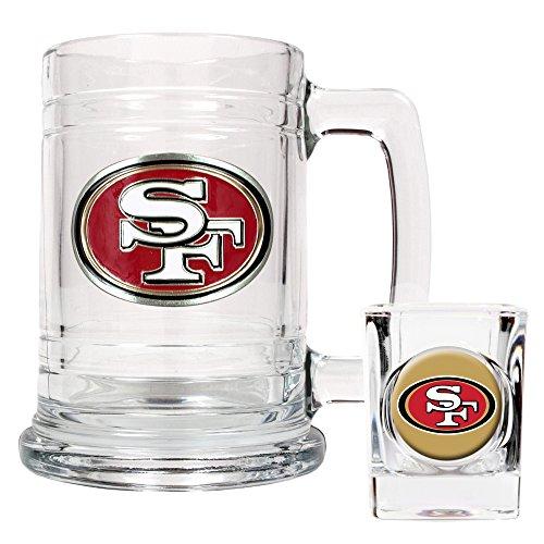 - NFL San Francisco 49ers Boilermaker Set (Primary Logo)